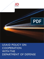 USAID policy on cooperation with the Department of Defense