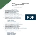 Planejamento - Eletrônica II (2013)