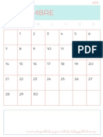 Calendarios mensuales imprimibles