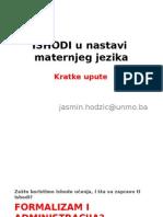 ISHODI u nastavi maternjeg jezika (kratke upute)