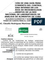 Control Interno en el laboratorio de microbiología