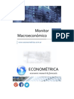 Econométrica - Monitor Macro - Agosto 2015
