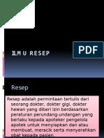 ILMU RESEP