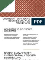 Chemisch-Technische Beurteilung Von Weinbrand Präsentation