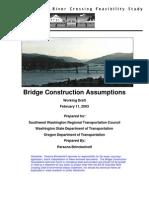 Bridge Construction Assumptions