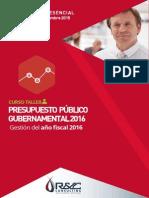 Presupuesto Publico Gestion 2016 - Curso Taller
