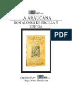 Ercilla Alonso de y Zuniga - Araucana