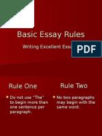Basic Essay Rules-Jane Schaffer Vocab