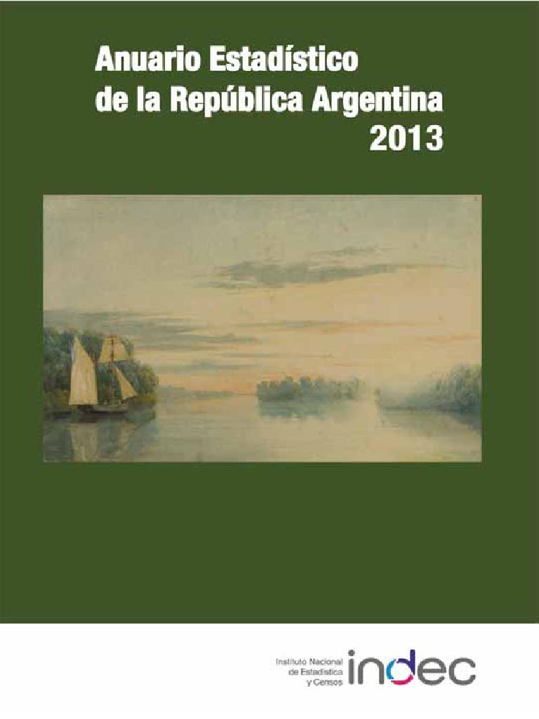 4fa97c029 INDEC. Anuario Estadístico 2013