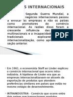 Aula 5 - Negocios Internacionais - Teorias Comércio Internacional