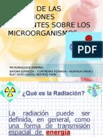 Accion de Las Radiaciones Ionizantes en Microorganismos