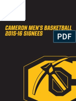 Cameron University men's basketball 2015-16 signing class