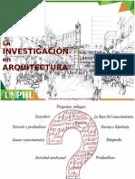 Investigacion en Arquitectura