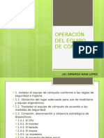 Operación Del Equipo de Cómputo