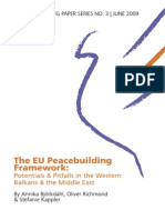 EU Peacebuilding Framework- Bjorkdahl, Richmond and Kappler