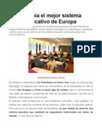 Cambia El Mejor Sistema Educativo de Europa