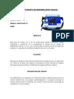 Guía de Un Equipo de Desfibrilador Manual