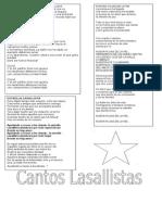 Letra de Cantos Lasallistas 2015