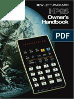 HP 25 OwnersHandbook
