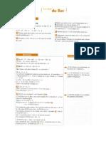 TS Spécialité - Premier Contact - Exercices Corrigés de Type BAC