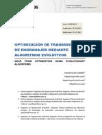 OPTIMIZACIÓN DE TRANSMISIONES DE ENGRANAJES MEDIANTE ALGORITMOS EVOLUTIVOS