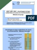 ABNT NBR 15847 - Amostragem de Água