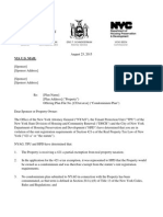 421-A Tripartite Letter Regarding Notice of Non-Compliance (AG Schneiderman TPU HPD)