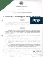 LEY N° 3239 DE LOS RECURSOS HIDRICOS DEL PARAGUAY