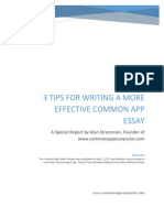 The Tips to Writing a More Effective Common App Essay