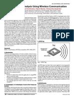 Post Accident Analysis Using Wireless Communication