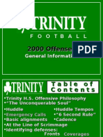 Andrew Coverdale Spread Offense Trinity High School