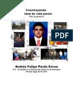 Plan de Gobierno Santa Fe de Antioquia, La Ciudad Que Soñamos, Queremos y Merecemos - Descriptivo