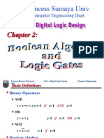 Chapter 2 Boolean Algebra Logic Gates
