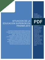 Monografia Estado de La Educacion Superior en Panama 2015