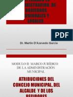 ATRIBUCIONES DEL CONCEJO DEL ALCALDE Y DE LOS REGIDORES.pptx
