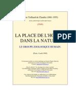 La Place de l'Homme Dans La Nature_Pierre Teillhard de Chardin