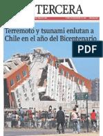 Terremoto en Chile (La Tercera 28-2-2010)