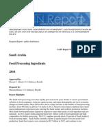 Food Processing Ingredients Riyadh Saudi Arabia 12-30-2014