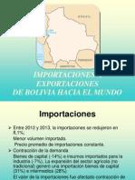 Importaciones y Exportaciones de Bolivia Hacia El Mundo