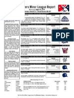 Minor League Report 15.08.26