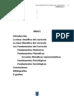 Investigacion Bases y Fundamentos Del Curriculo