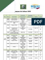 Mapa de actividades e responsáveis presentes 1