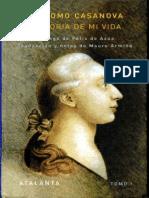 189065845 Casanova Giacomo Historia de Mi Vida Libro I