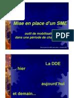 DDE-Mise en Place d Un SME