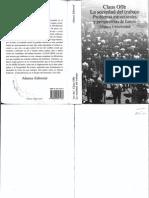 La Sociedad Del Trabajo. Problemas etructurales y prespectivas de futuro