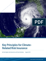Key Principles for Climate-Related Risk Insurance