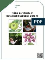 RBGE Certificate in Botanical Illustration 2015-2016