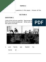 Soalan ENGLISH BI Bahasa Inggeris Tahun 3 Paper 2