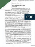 Leis Penais Em Branco e Principio Da Reserva Legal
