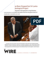 Putinization Has Been Stopped but Sri Lanka Needs a New Ideological Project